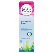 Veet Hair Removal Cream For Sensitive Skin With Aloe Vera & Vitamin E 100ml