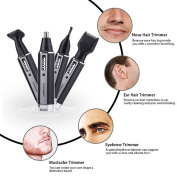 Toyofmine Professional 4 in 1 Rechargeble Water Resistant Trimmer for Ear Nose Hair Beard Sideburn and Eyebrow
