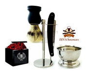 Shave Ready -5 Piece Set Shaving Straight Razor with Stand