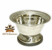 STAINLESS STEEL SHAVING SOAP BOWL FROM ZEVA