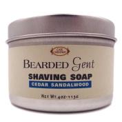 Bearded Gent - Cedar Sandalwood Shaving Soap 120ml with Kaolin Clay | Bentonite Clay