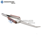 OdontoMed2011 TWEEZERS W/CROSS LOCKING ACTION, CURVED TIPS & fibre HANDLES QUALITY INSTRUMENTS