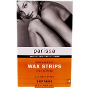 Q & E Wax Strips Leg & Body - 16 ct - Wax Strip [Health and Beauty] by Parissa