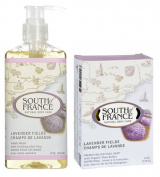 South Of France Natural Body Care Lavender Fields Hand Wash and Bar Soap Bundle, 1 Each