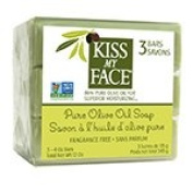 Kiss My Face Olive Oil Bar Soaps Pure Olive Oil 3 (120ml) pack (a) - 2pc