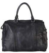 Diophy Genuine Leather Distressed Doctor-Style Tote 150185