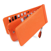Huztencor RFID Blocking Women's Genuine Leather Trifold Credit Card Wallet Purse