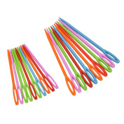 Buytra 40 Pieces Plastic Sewing Needles for Kids Craft and Needle Projects,Coloured,2 Sizes,7cm and 9.5cm