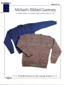 Design by Louise Knitting Pattern #39 Michael's Ribbed Guernsey - Unisex Sweater to Make for Adults 90cm - 120cm