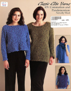 Classic Elite Yarns Knitting Pattern Leaflet #879 - Commotion & Pandemonium Novelty Wool - 4 Designs for Women