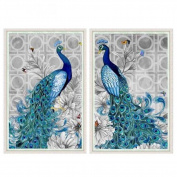W8 5D Diamond Embroidery Paintings Rhinestone Pasted diy Diamond painting Blue Peacock Cross Stitch