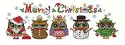 Christmas Owls, 14ct, Egypt cotton thread 24070stitch, 5323cm cross stitch kits