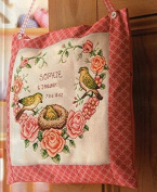 Rose in heart counted cross stitch kits, 14ct, Egypt cotton thread 140120 stitch, 3636cm cross stitch kits