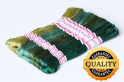 DMC Floss Pack, 24-Pack 8M Cotton thread, cross stitch embroidery thread, cross stitch
