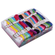 100pcs Multi-Colour Soft Cotton Cross Stitch Embroidery Threads Floss Sewing Crafts DIY