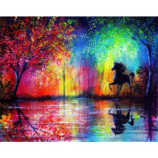 Blxecky 5D DIY Diamond Painting By Number Kits,horse