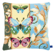 Vervaco Deco Butterflies Cushion Cross Stitch Kit