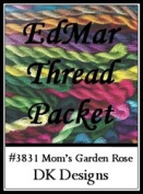 Mom's Garden Rose - DK Designs EdMar thread pkt #3831