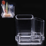 XILALU Cosmetic Make Up Clear Acrylic Organiser Lipstick Brush Swabs Storage Display Holder