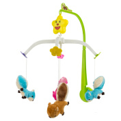 Sumaclife Baby Boy Girl Crib Musical Mobile with Hanging Rotating Adorable Soft Plush Animals Dolls