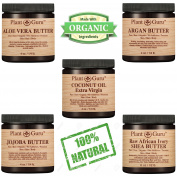Body Butter VARIETY 5 PACK 120ml Pure Raw 100% Natural. Set Includes