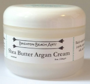 Unscented Shea Butter Argan Whipped Body Butter for SENSITIVE Rough, Dry, Flaky, Hard, and Cracked Skin