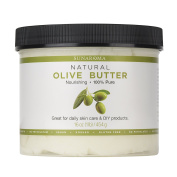 Sunaroma Natural Olive Butter (470ml) - Rich in Vitamins A and E, Olive Oil Body Butter Moisturises Dry Skin and Soothes Sunburn - Helps Keep Hair Healthy and Tame - Great for DIY Projects