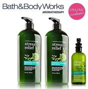 Bath & Body Works Aromatherapy Gift Set Eucalyptus Spearmint Bonus Size Body Lotion, Limited Edition Lot of 2 plus Pillow Mist
