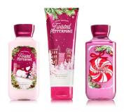 Bath & Body Works Twisted Peppermint Winter Holiday Trio - Body Cream, Body Lotion & Shower Gel