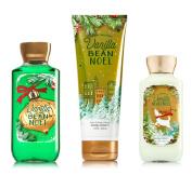 Bath & Body Works Vanilla Bean Noel Trio - Body Cream, Body Lotion & Shower Gel