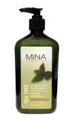 Mina Organics Tea Tree Body and Face Moisturiser 530ml - Factory Authenticity Code