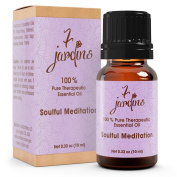 Premium Soulful Meditation Synergy Blend Essential Oil 100% Pure & Natural Therapeutic Grade 10 ml - Patchouli, Clary Sage, Ylang-ylang, Frankincense, Orange Sweet and Thyme - By 7 Jardins