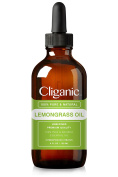 Cliganic 100% Pure Lemongrass Essential Oil (120ml) | Natural Lemongrass Oil, Best Plant for Aromatherapy Diffuser | For Young Living Now | Unrefined Premium Quality  .  d