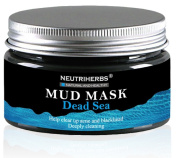 Neutriherbs Dead Sea Mud Facial, Body & Hair Mask 260ml | Natural Therapy For Deep Pore Cleansing, Acne & Blackhead Removal & Anti-Ageing Treatment | Hydrating & Detoxifying Mask For Men & Women