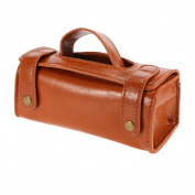 Anself PU Leather Travel Toiletry Bag Shaving Wash Case Organiser Bag For Protect Shaver Shaving Kit