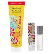 Love & Toast Clementine Crush Body Lotion and Roller Ball Perfume Set