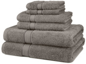 DIA 6-Piece Egyptian Cotton Towel Set - Grey