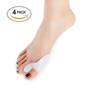 Dr. Kong 4Pcs Silicone Hallux Valgus Toe Separator Bunion Splint Big Toe Corrector for Bunion Pain Relief Foot Care Tools