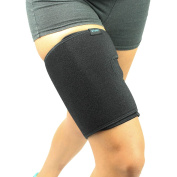 Thigh Wrap by Vive - Best Pulled Hamstring Strain Support for Injury - Torn Hamstring Brace for Tendinitis, Leg Pain, Muscle Pull or Strain, Soreness - Neoprene Compression Sleeve - Vive Guarantee