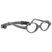 Miraflex Baby Zero2 Infant Eye Glass Frames | 34/15 Dark Grey | Age:8-24 Mo.