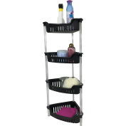 Corner Bathroom, Kitchen & Garage 4 Tier Basket Storage Shelving Unit By Above Edge – Durable, Water Resistant, Rust Proof Material – Ideal For Towels, Toilet Paper, Tissues, Shampoo Bottles