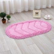 Cotton mats hallway mat kitchen mat water-absorbing mats oval -4570cm d