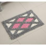 Cotton bathroom water-absorbing mats household mats non-slip door mat bathroom mat -5080cm u