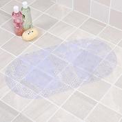 Bathroom mat bathroom mat bath tub shower mats bathroom mats bathroom mats -7038cm Transparent white