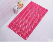 Shower mat bath mat bath PVC water suction cup Massage Mat -407cm Red