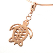 MB Michele Benjamin LLC Jewellery Design Women's 18K Rose Gold Plated Sterling Silver Sea Turtle Collectable Charm
