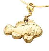 MB Michele Benjamin LLC Jewellery Design Women's 18K Gold Plated Sterling Silver Clownfish Collectable Charm
