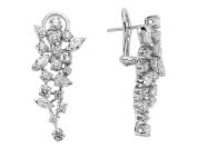 Marquise and Drop Cut Stone Diamond Earrings in 18K Gold