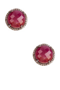 Ruby and Champagne Diamond Echo Stud Earrings