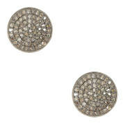 Champagne Diamond and Sterling Silver Imogen Stud Earrings